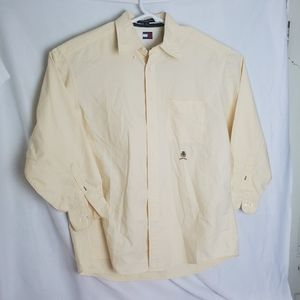 Tommy Hilfiger  Light Yellow Button Down Long Slee